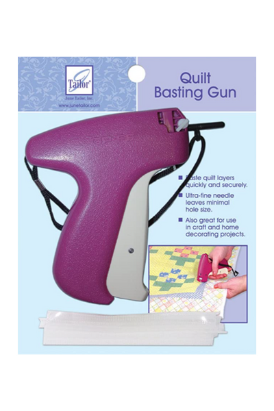 Quilt basting tack gun | Shattered Star Quilt Along Week 7: How to baste your quilt | Shannon Fraser Designs #quiltbasting