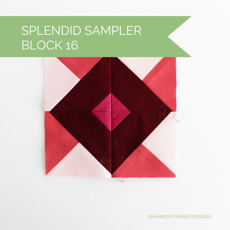 Splendid Sampler Block 16 | Shannon Fraser Designs