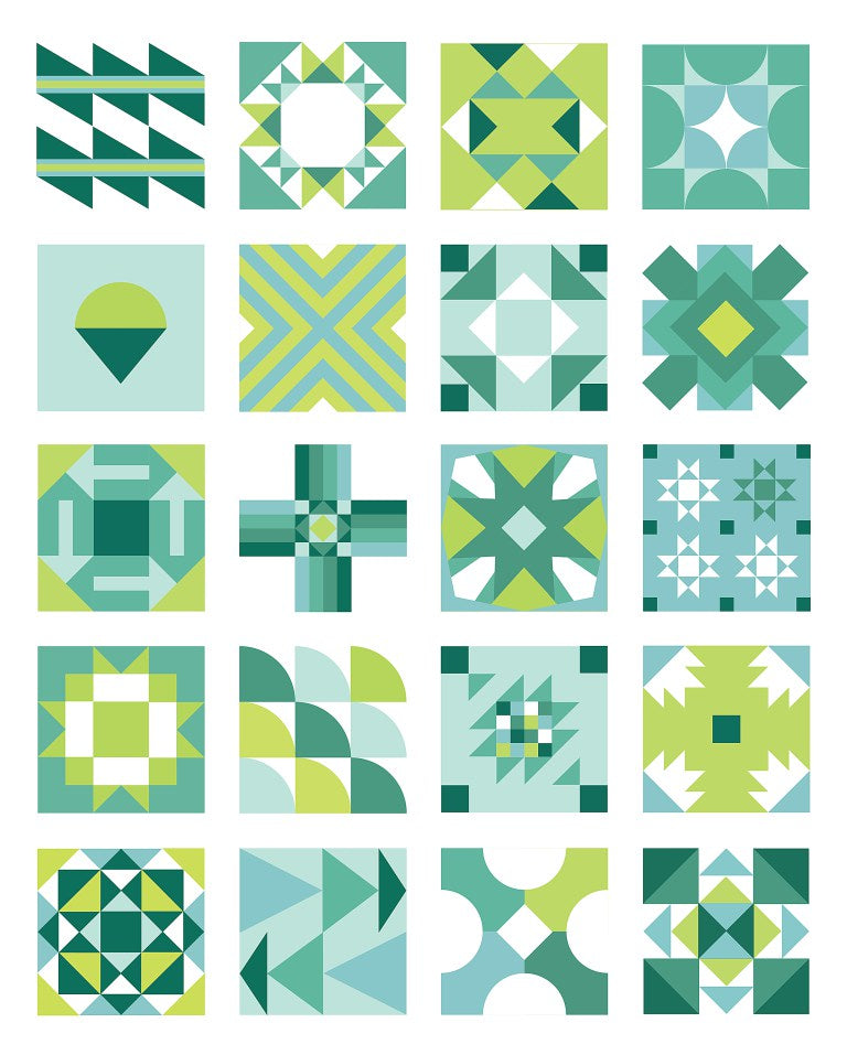 Summer Sampler 2016 quilt blocks mock-up