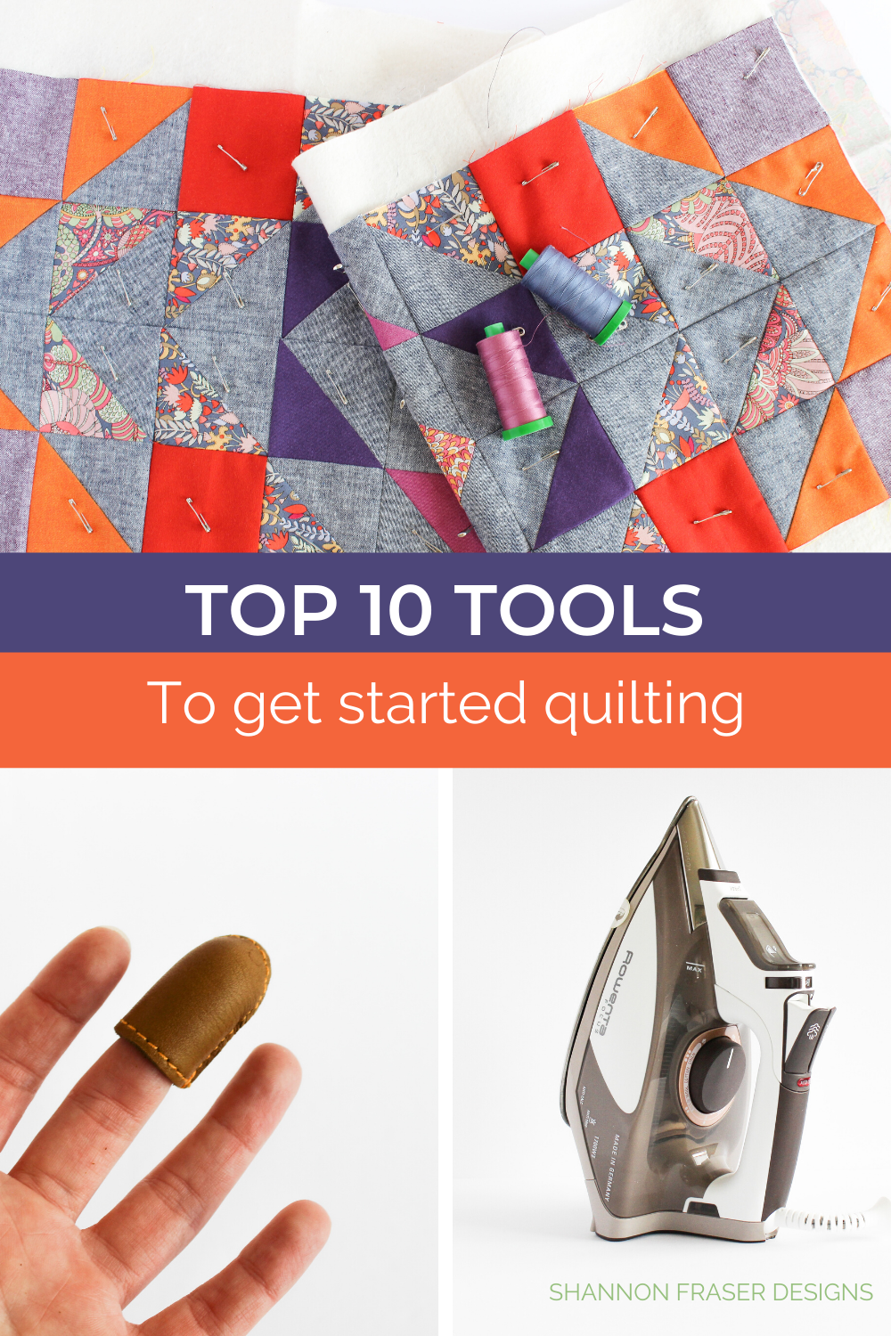 "Top 10 Quilting Tools to get started quilting | Best tips for new quilters and how to get a scant 1/4"" seam allowance 
