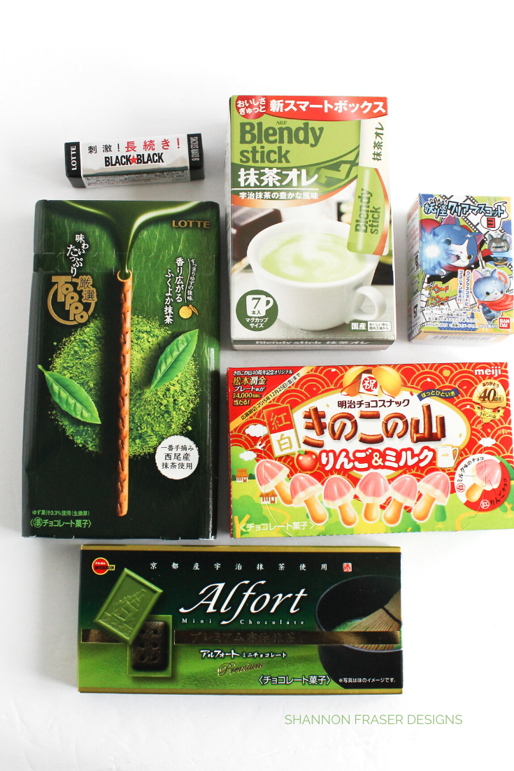 Sweets and chocolates from Japan