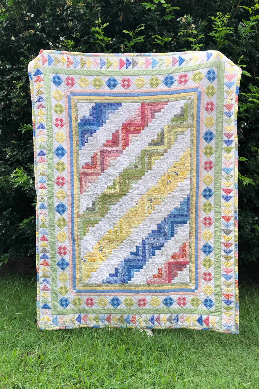 First quilt Xanthe made out in the summer wild | What's in your sewing bag Wife-Made? | Shannon Fraser Designs' series #sewingbag