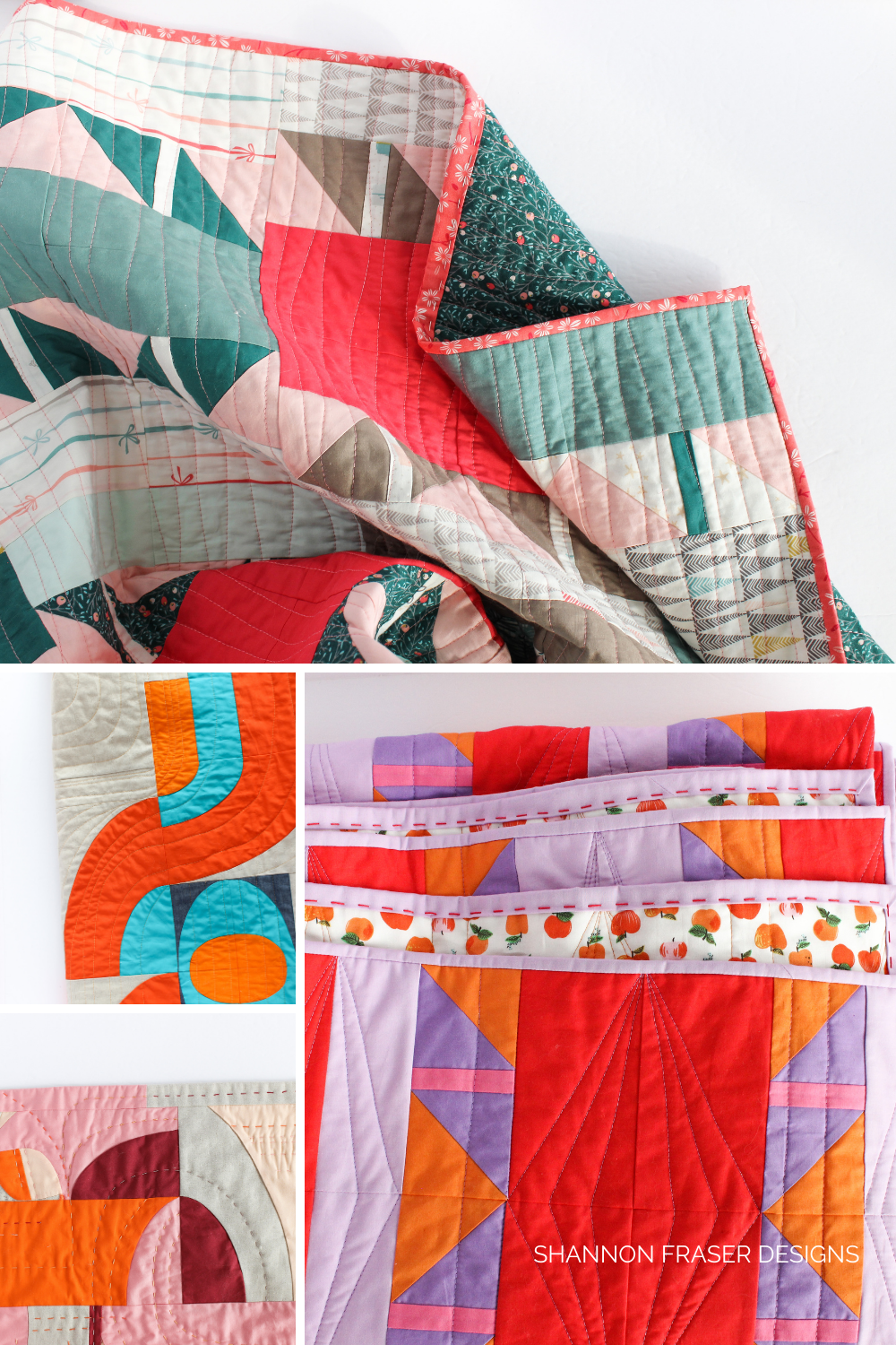 Rounding up the quilts I completed in 2020 even though I was without my sewing machine for 6 months | Modern quilts | Shannon Fraser Designs #quilting