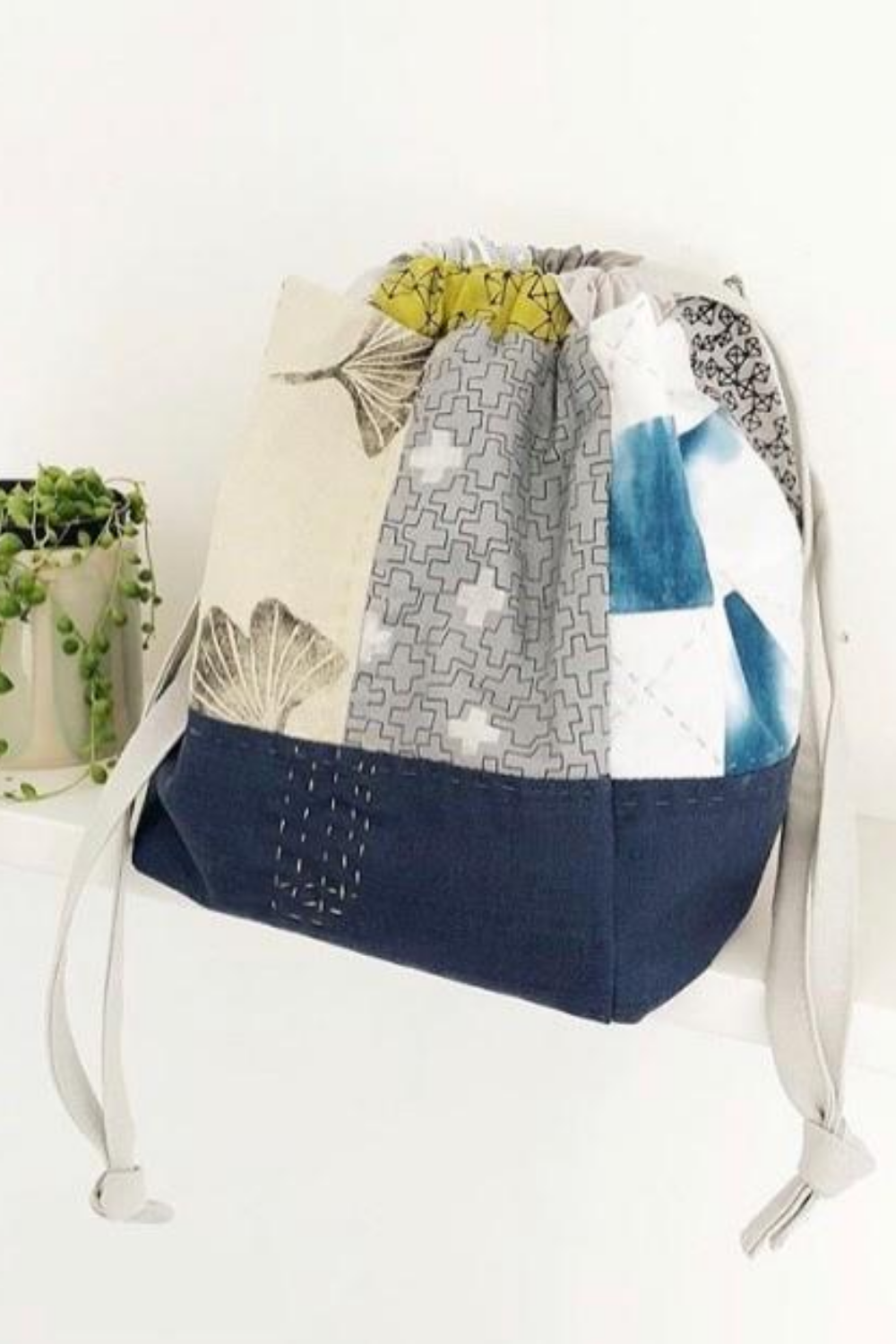 Japanese Rice Pouch made by Karen Lewis | What's in Your Sewing Bag Karen Lewis Textiles? | Shannon Fraser Designs #japanesericepouch