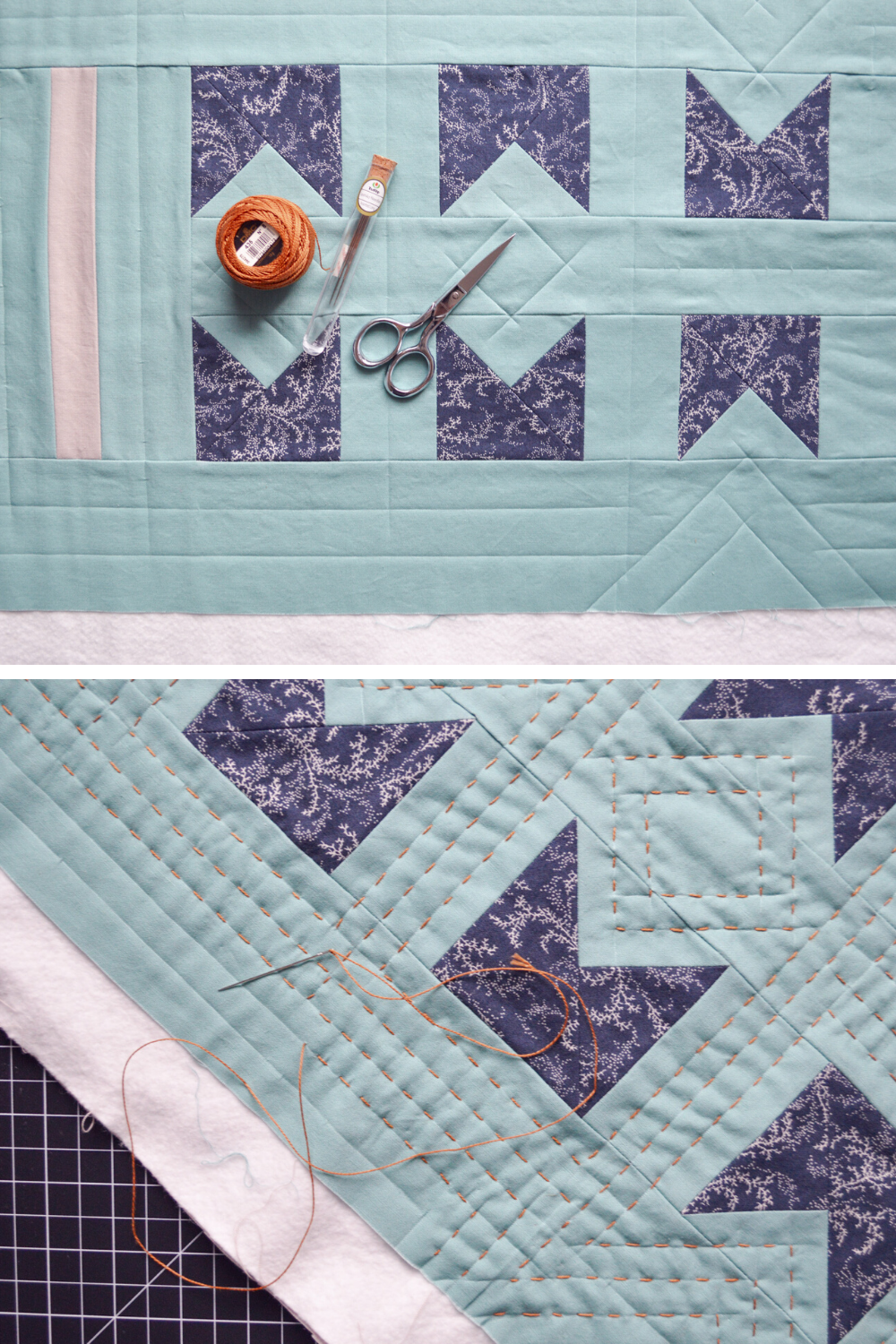 Hand quilted wall hanging | What's In Your Sewing Bag? Special Guest: Anna from Wax and Wane Studio | Shannon Fraser Designs #handquilting