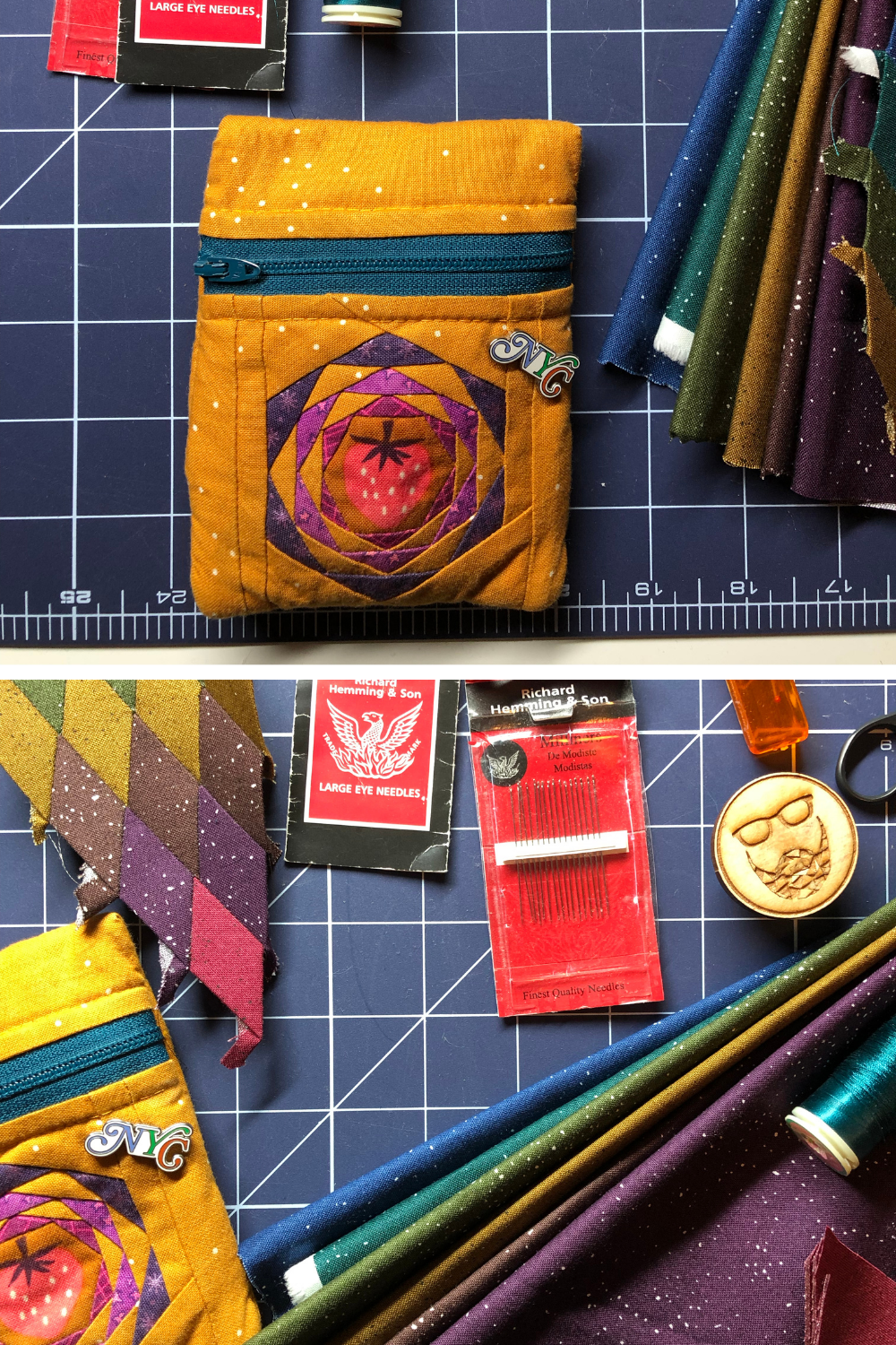 Giucy Giuce's on the go EPP sewing kit and essential notions | What's in your sewing bag Giucy Giuce? | Shannon Fraser Designs' series #sewingbag