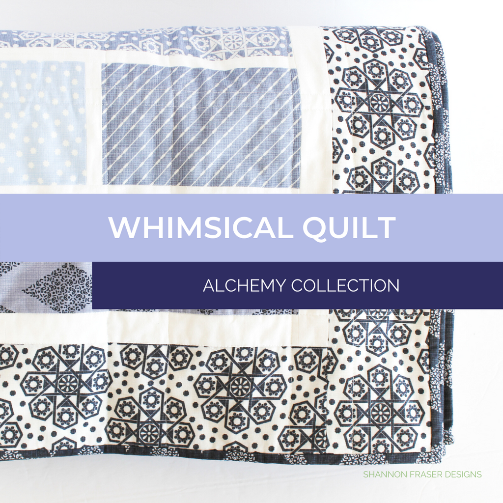 Folded Whimsical quilt featuring Alchemy collection
