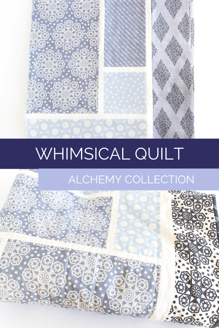 Whimsical quilt block + Whimsical quilt folded up for close up shot