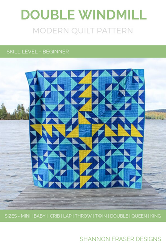 Double Windmill Quilt Pattern (PDF)