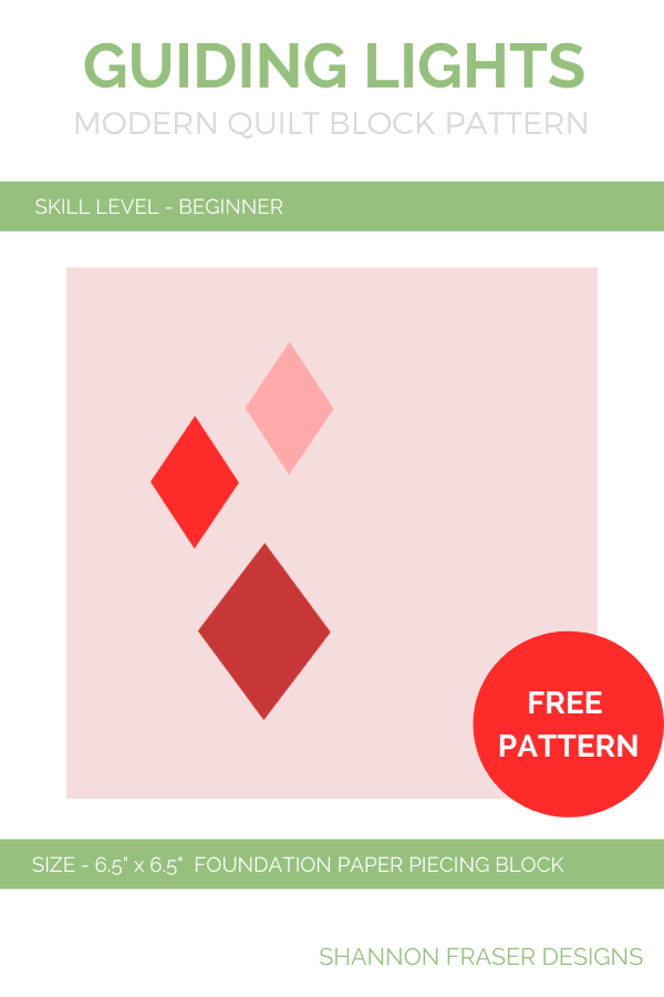 Guiding Lights FREE Block Pattern (PDF)