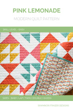 Load image into Gallery viewer, Pink Lemonade Quilt Pattern (PDF) Cover | Easy beginner quilt pattern | Shannon Fraser Designs
