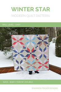 Winter Star Quilt Pattern (PDF) - Shannon Fraser Designs