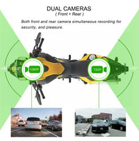 MotoProCam2 - Waterproof Dual Motorcycle Cam System w/ WIFI & Optional GPS