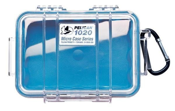 PELICAN CASE 1020- CLEAR/BLUE