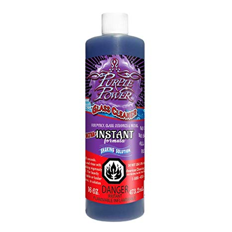 PURPLE POWER ULTRA + INSTANT FORMULA SHAKING SOLUTION GLASS CLEANER 16OZ