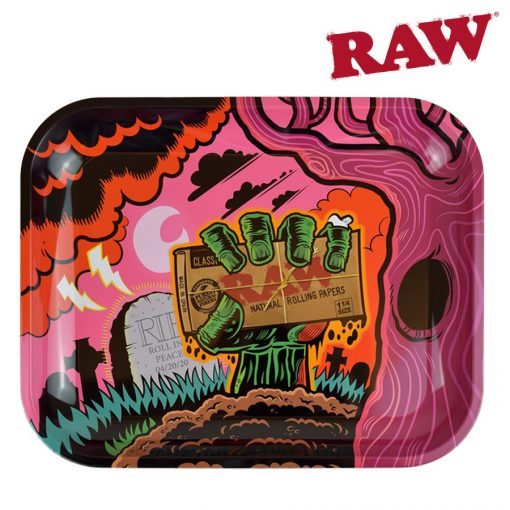RAW ROLLING TRAY LARGE- ZOMBIE