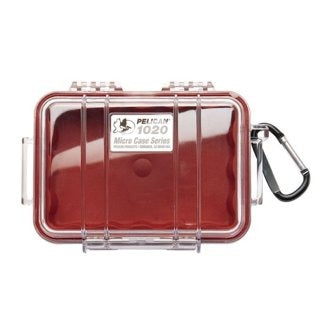 PELICAN CASE 1020- CLEAR/RED