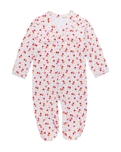 Pink cherry Ultra-soft Peruvian Pima cotton baby one-piece