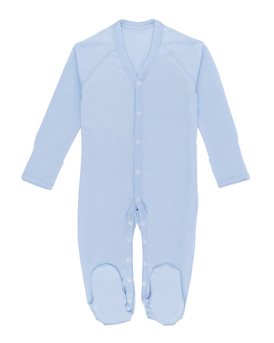 Blue Peruvian Pima cotton baby one-piece