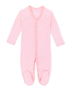 Pink Peruvian Pima cotton baby one-piece