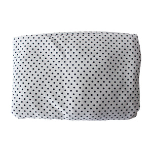 Navy Dot Pima Cotton Crib Sheet