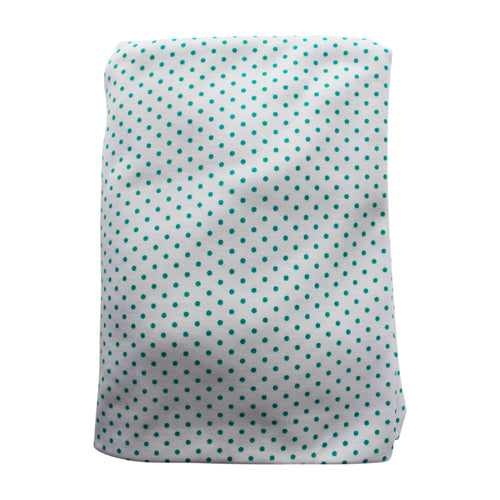 Aqua Dot Pima Cotton Crib Sheet