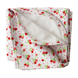 Cherries Pima Cotton Super Soft Baby Blanket