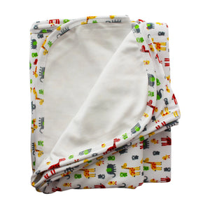 Giraffes Pima Cotton Large Baby Blanket