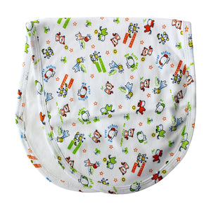 Safari Animals Baby Burp Cloth
