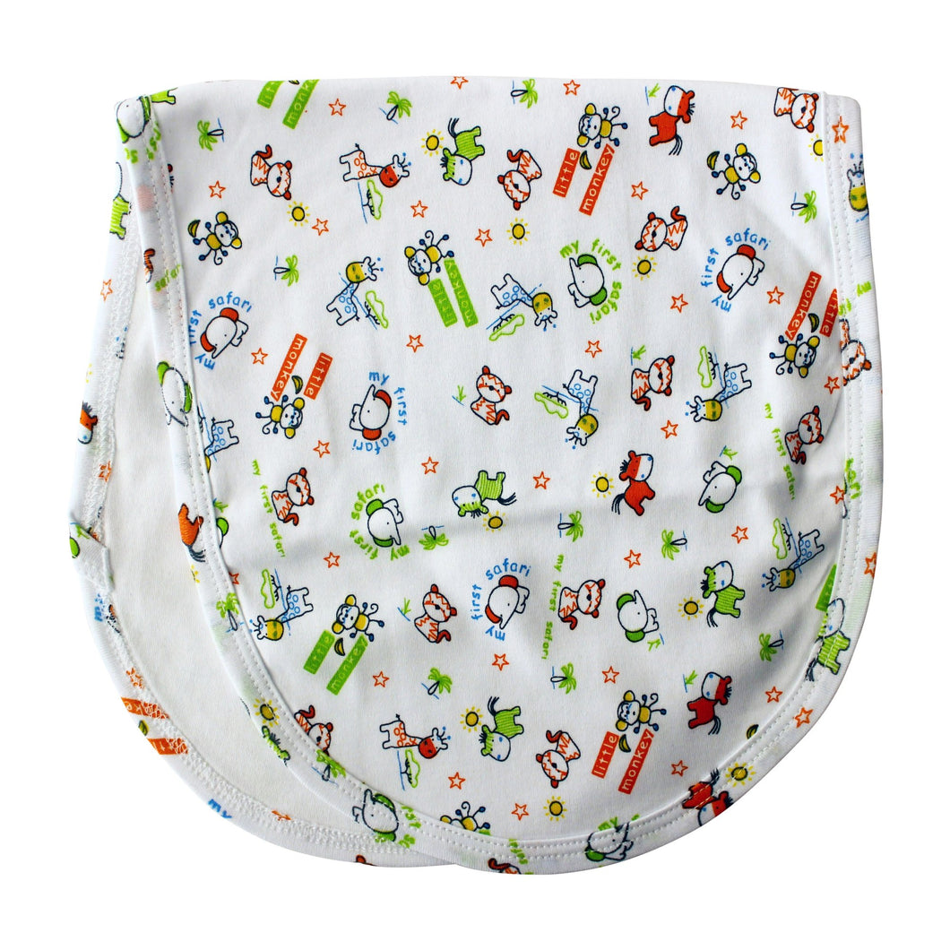 Safari Animals Burp Cloth