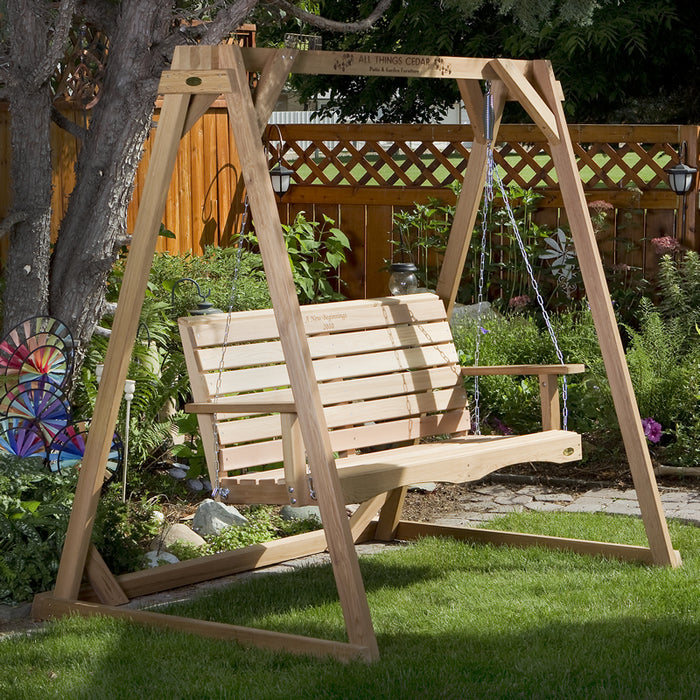 4 ft. Porch Swing with Frame