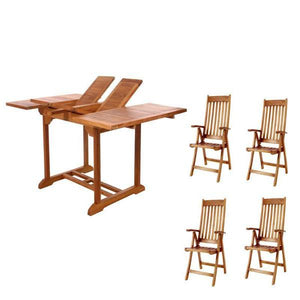 5pc Folding Arm Chair Dining Set