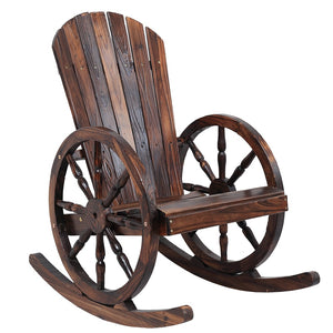Wagon Wheel Adirondack-Style Rocking Chair