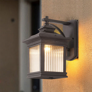 Retro 220v 110v IP44 Glass Led Outdoor Waterproof  Wall Lighting Lamp Sconce for Street Home Porch Gate Balcony Veranda House