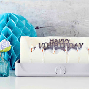 happy 18th Birthday candle, milestone gifts, special age birthday