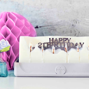 Happy 21st Birthday Hidden Message Candle