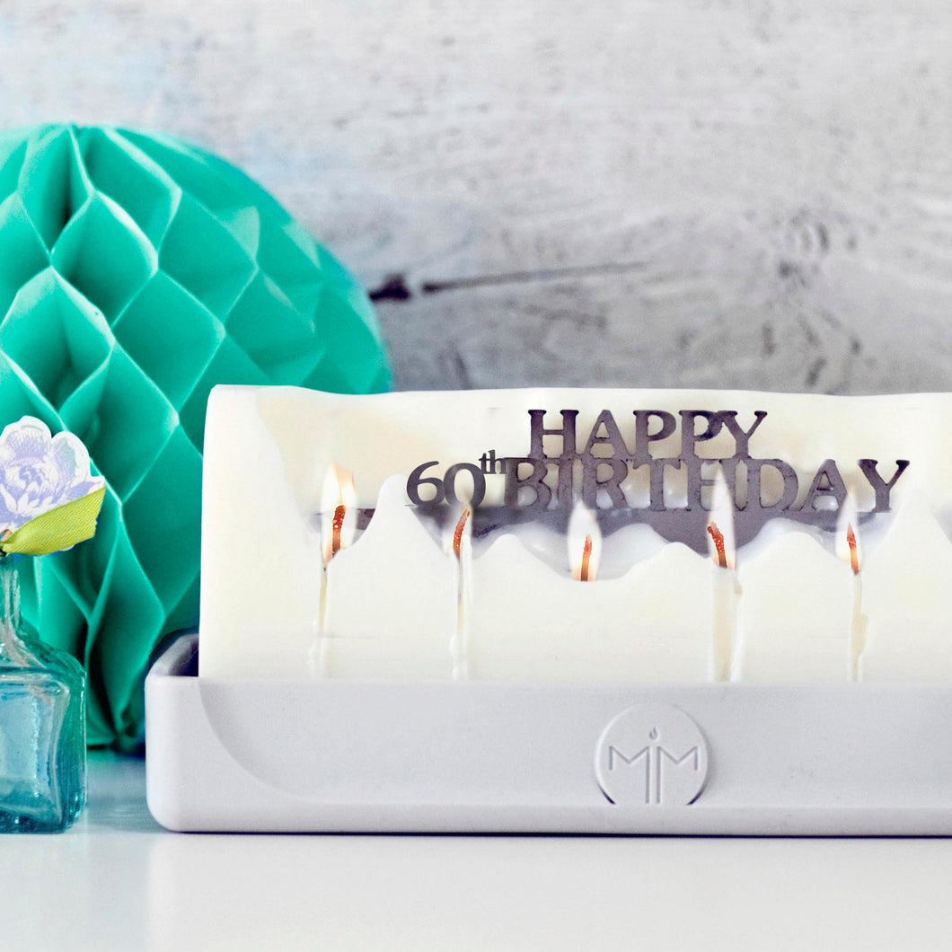 Happy 60th Birthday candle, milestone gifts, special age birthday presents
