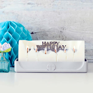 Happy Birthday candle, celebration gifts, milestone birthday, special age birthday gifts