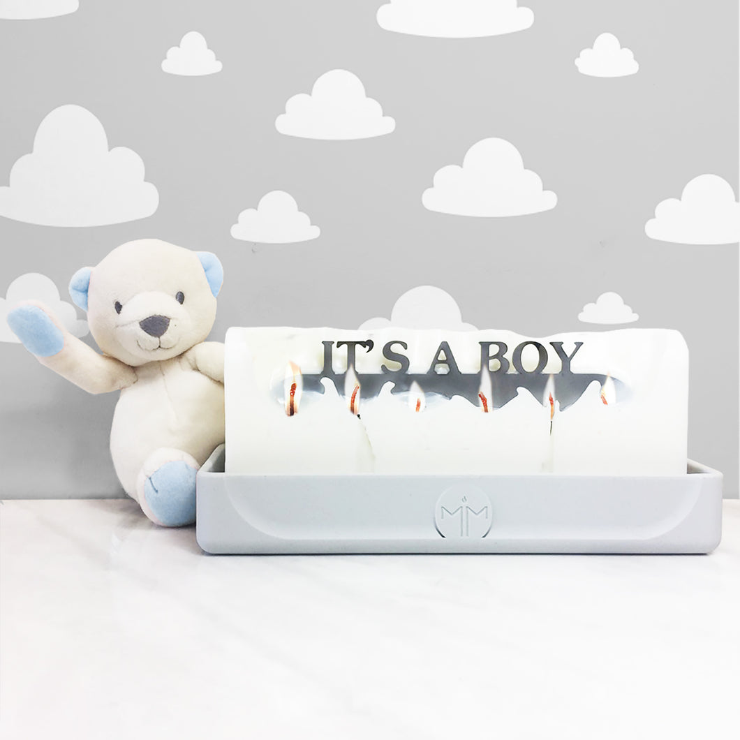 Its a boy candle, gender reveal gifts, baby candles