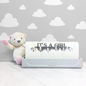 Its a girl candle, gender reveal gifts, baby candles