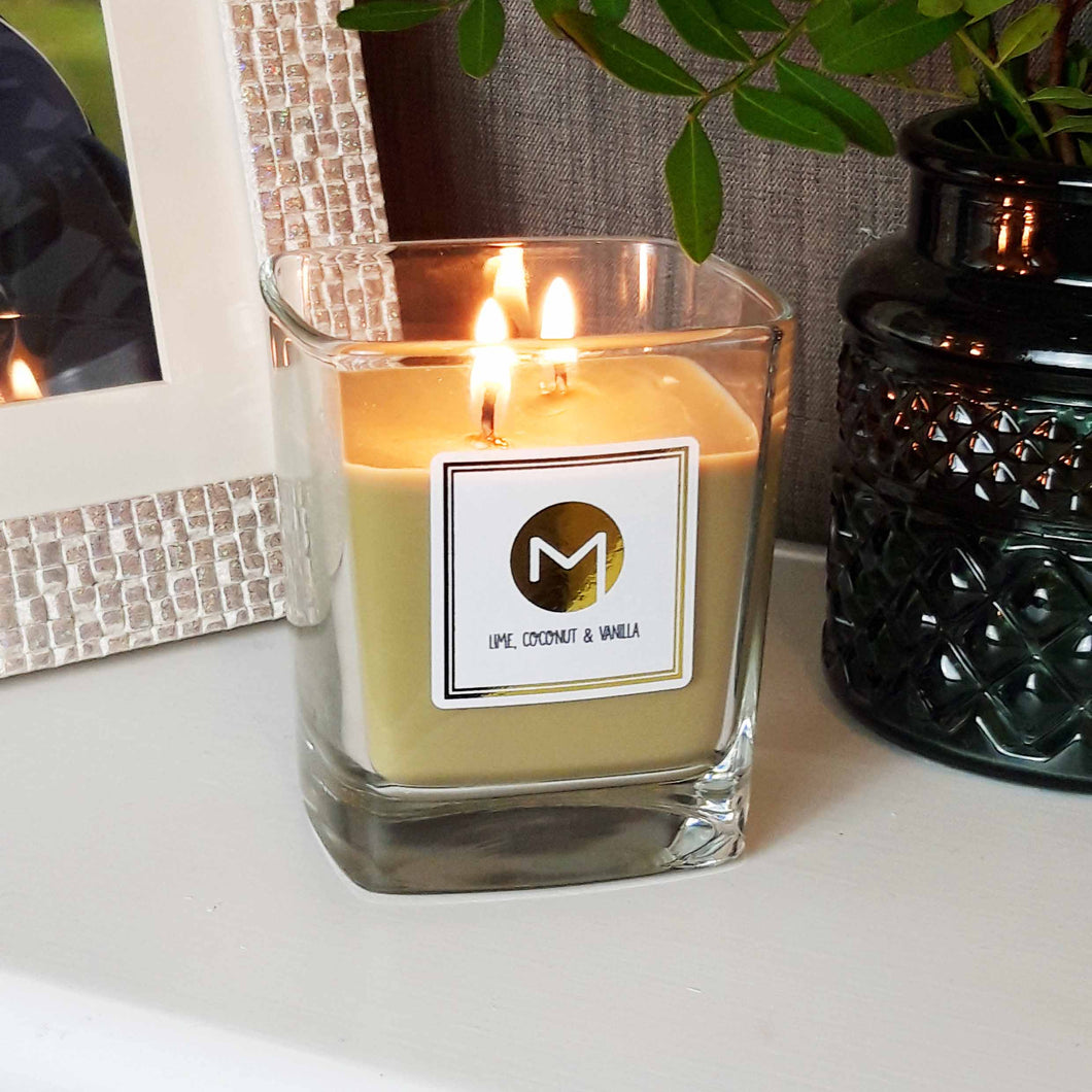 Scented Candle - Lime, Coconut & Vanilla
