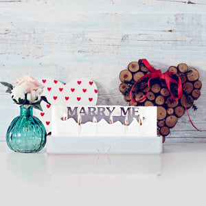 Marry Me candle, marriage proposal, wedding, romantic gifts, valentines day