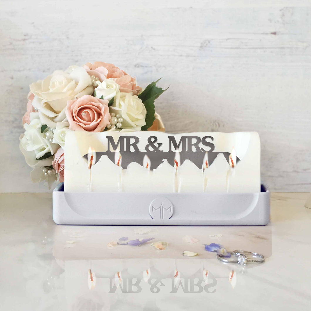 Mr & Mrs candle, wedding gifts, anniversary presents, romantic, valentines day