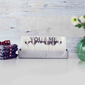 You & Me candle, romantic gifts, valentines gifts