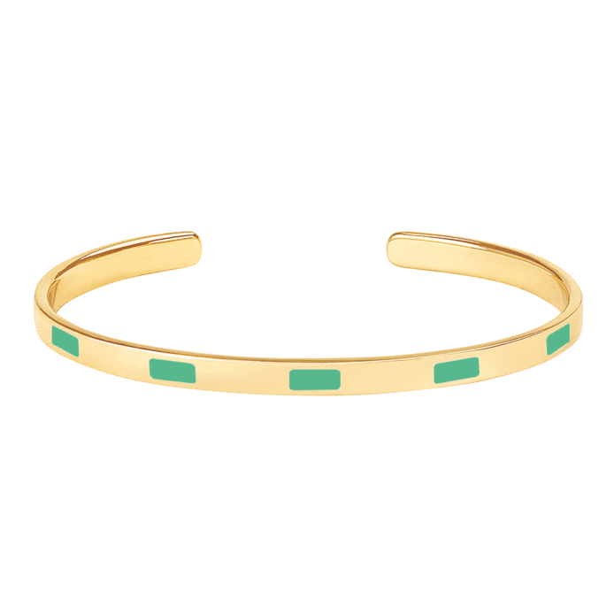 Bracelet Tempo Vert Opal - Bangle Up - Natoho