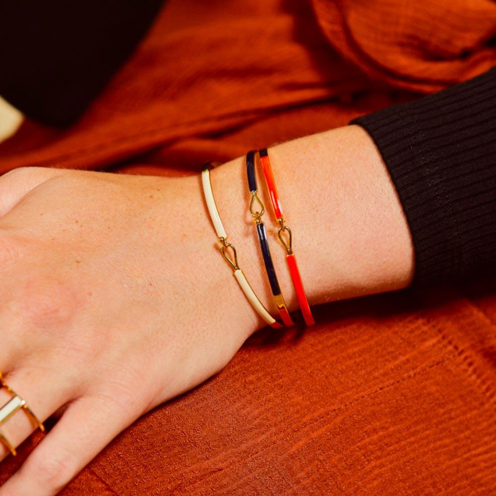 Bracelet Lily Tangerine - Bangle Up - Natoho