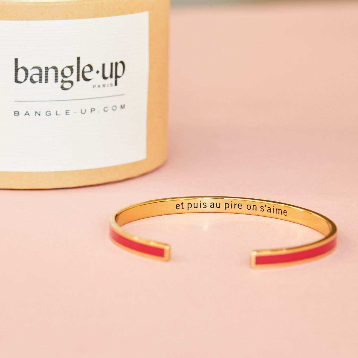 Bracelet Resolutions Rouge Velours - Bangle Up - Natoho