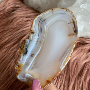Agate Slice (Cream)