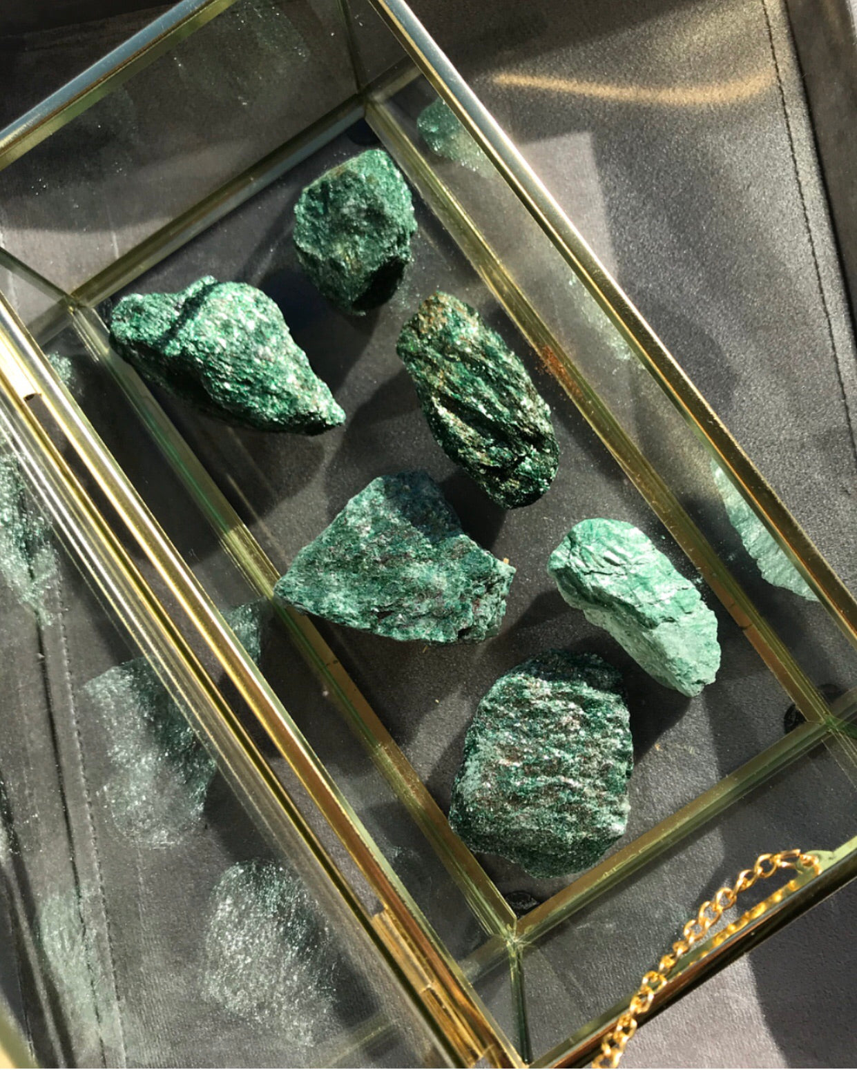 Small Glittery Rough Fuschite