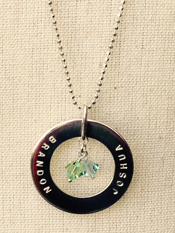 Swarovski Crystals hang in a Sunny Pendant. A perfect Mother's Day gift by CitrusSilver